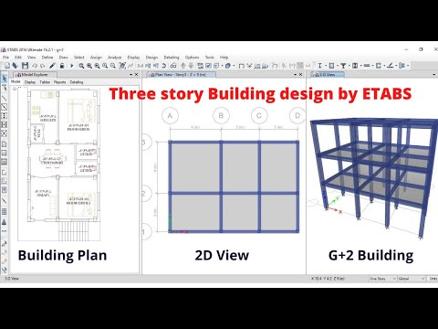 Three Story Building G 2 Design By Etabs Software Civil Engineering Online Software Training Youtube