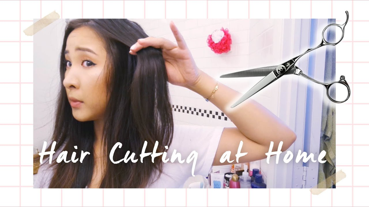 How To CUT TRIM LAYER Hair at Home