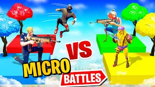 200 IQ TRICK bei MICRO BATTLES Modus in Fortnite!