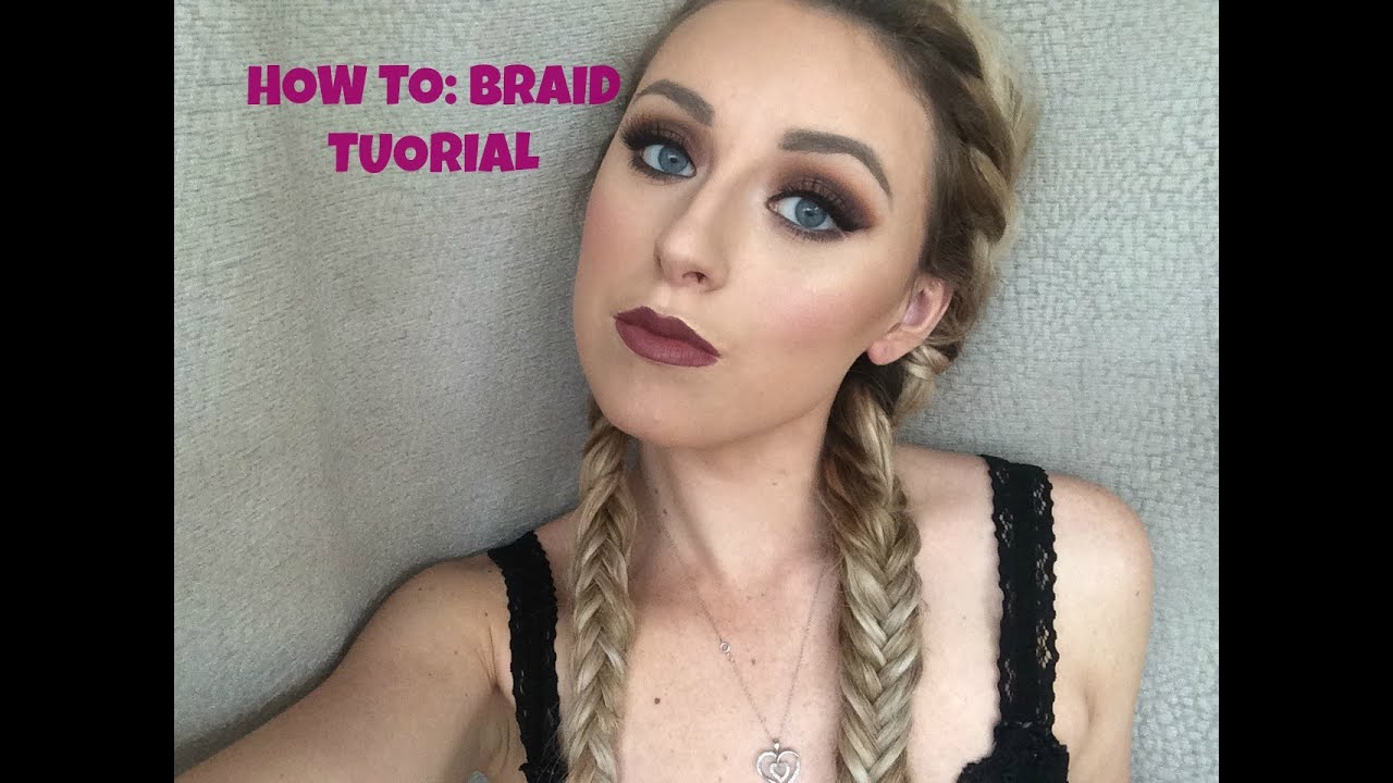 How to french braid fishtail pigtails youtube ccuart Choice Image
