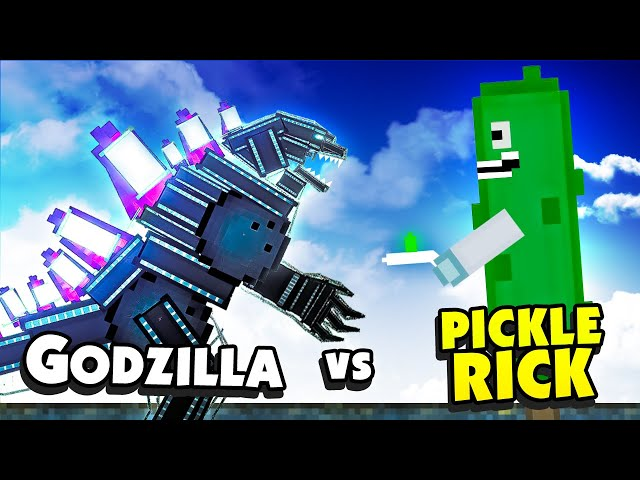 Can PICKLE RICK Defeat the Unstoppable GODZILLA? - People Playground