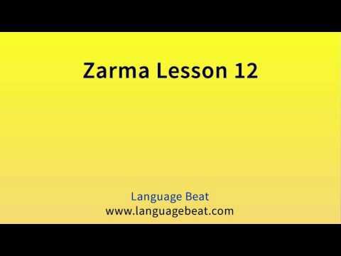 Learn Zarma   :  Lesson 12  -  Zarma  Phrases for Beginners