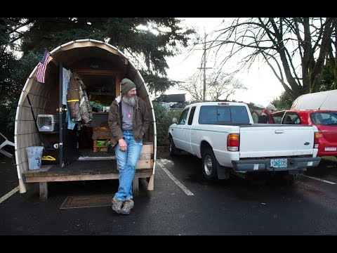 Oregon Churches Put Up Huts To Help Growing Homeless Population