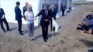 Ceremonia rozpoczęcia budowy fabryki Mabuchi Motor w Bochni