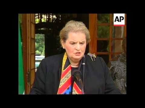 SOUTH AFRICA: US SECRETARY OF STATE MADELEINE ALBRIGHT VISIT