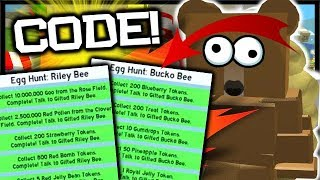 ALLE *EGG HUNT* QUESTS COMPLETE & NEW CODE!   Roblox Bee Schwarm Simulator
