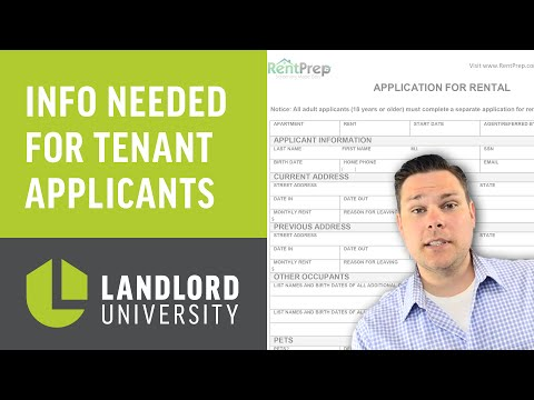 The Information You Need To Be Collecting On Your Rental Application Forms | Landlord University