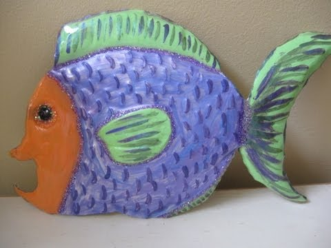 Fish Crafted From Aluminum Cookie Sheet Craft Tutorial