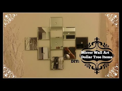 DIY: Mirror Wall Art  ~  Dollar Tree Mirrors