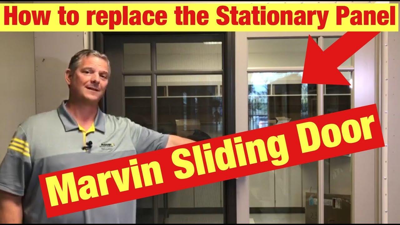 how to remove marvin sliding patio door