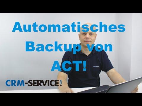 Backups in ACT! CRM Software durchführen - ACT! Tutorial deutsch