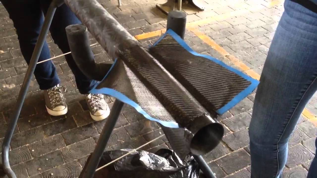 Layup Of Achs Carbon Fiber Rocket Youtube