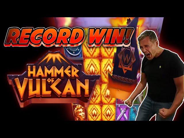 RECORD WIN! HAMMER OF VULCAN BIG WIN - NEW CASINO SLOT FROM QUICKSPIN