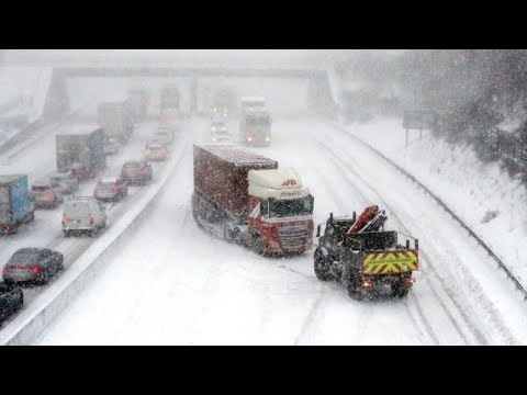 How snow and freezing conditions have hit Wales, Scotland and England | ITV News