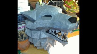 Game of Thrones Dire Wolf head