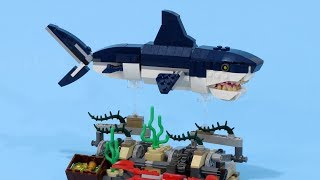 Swimming LEGO Shark 2 - 31088 Deep Sea Creatures Stand