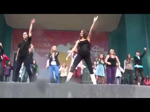 Танцевальный флешмоб в Парке Горького 23 09 2012