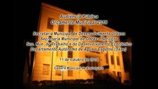 Audiência Pública Orçamento 2019 - 11/10/2018