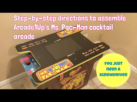 Dad Assembles Arcade1Up Ms. Pac-Man Cocktail Arcade from Dad Does Videos