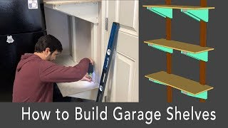 How to Build Sturdy Garage Shelves from 2x4s [FREE DIY PLANS]