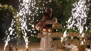 Очень красивый салют и фейерверк на свадьбе!