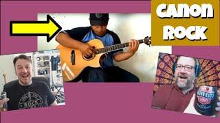 Music Teacher & Kyle Walz LIVE React to Alip Ba Ta Canon Rock Acoustic Guitar Reaction Review