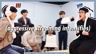 ateez's scream in silence game but make it chaotic