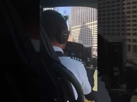 Landing a helicopter on Wall Street helipad