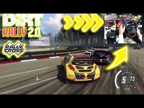PEUGEOT 208 WRX Rallycross Latvia Full Replay / Logitech G29 DiRT Rally 2.0 DLC