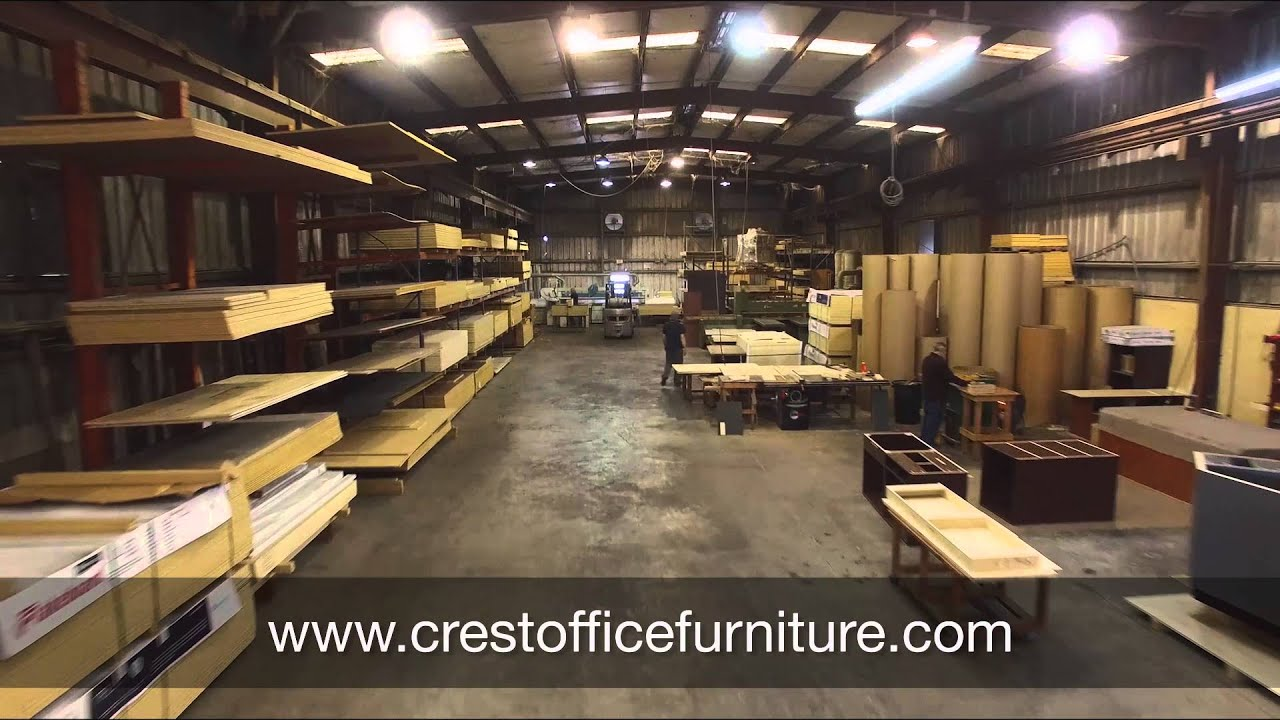 how office furniture is made at crest manufacturing - youtube