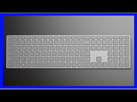 69c7cb71398 Microsoft Modern Keyboard with Fingerprint ID review - YouTube