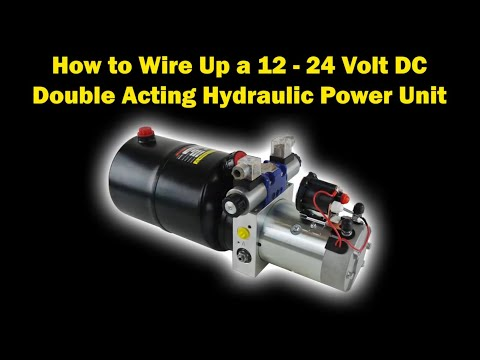 [SCHEMATICS_48YU]  How to Electrically Wire Up a 12 Volt DC Hydraulic Power Pack with Twin  Solenoid Coils & Thermistor - YouTube   24 Volt Hydraulic Lift Wiring Diagram      YouTube