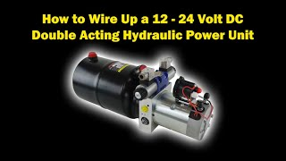 How to Electrically Wire Up a 12 Volt DC Hydraulic Power Pack with Twin  Solenoid Coils & Thermistor - YouTube | Hydraulic Power Pack Wiring Diagram |  | YouTube