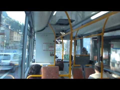 Bus from Ordino to Escaldes Engordany   Part 1   Andorra   October 2014