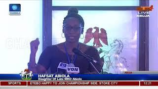 Hafsat Abiola Apologises On Behalf Of Late MKO Abiola To Buhari