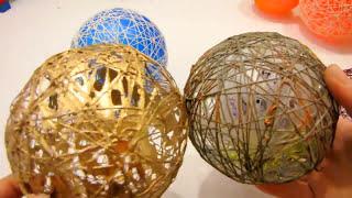 шарики из ниток и клея ПВА своими руками Самоделкины