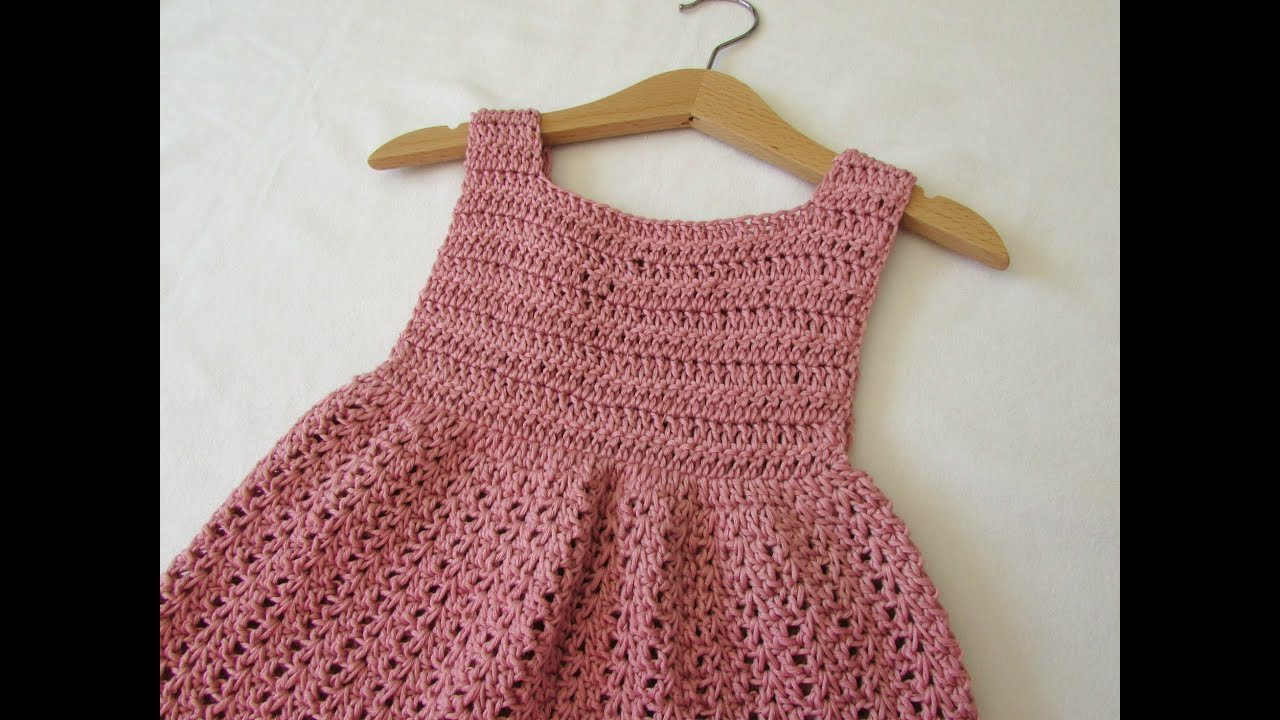 eaeaea4c9097 How to crochet an EASY party dress - any size - YouTube