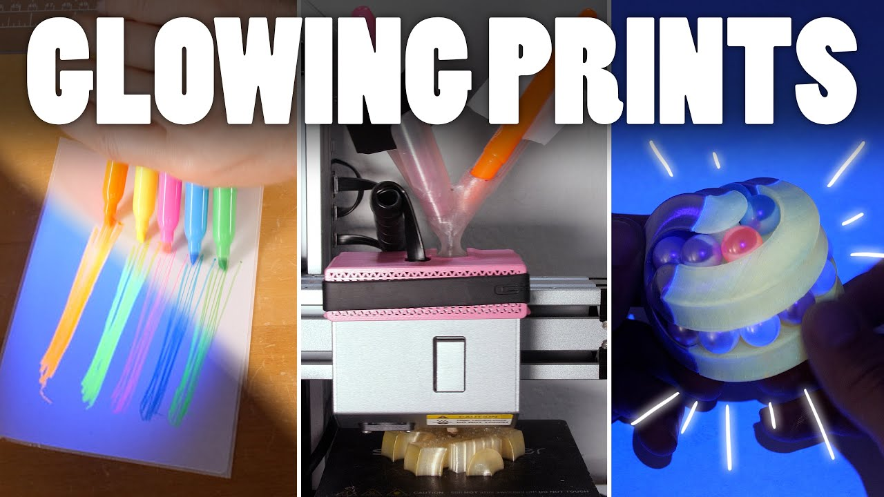 Glowing Prints using Highlighters #shorts