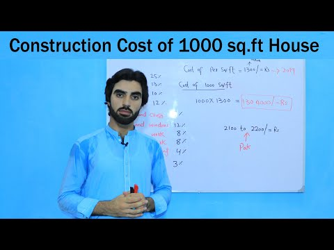 Construction Cost Of 1000 Square Feet House 2019?  Cost Of House Construction Per Square Foot 2019
