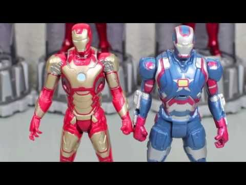 Iron Man 3 ASSemblers Mark XLII Iron Man & Iron Patriot (CRAPPY) Movie Toy Review