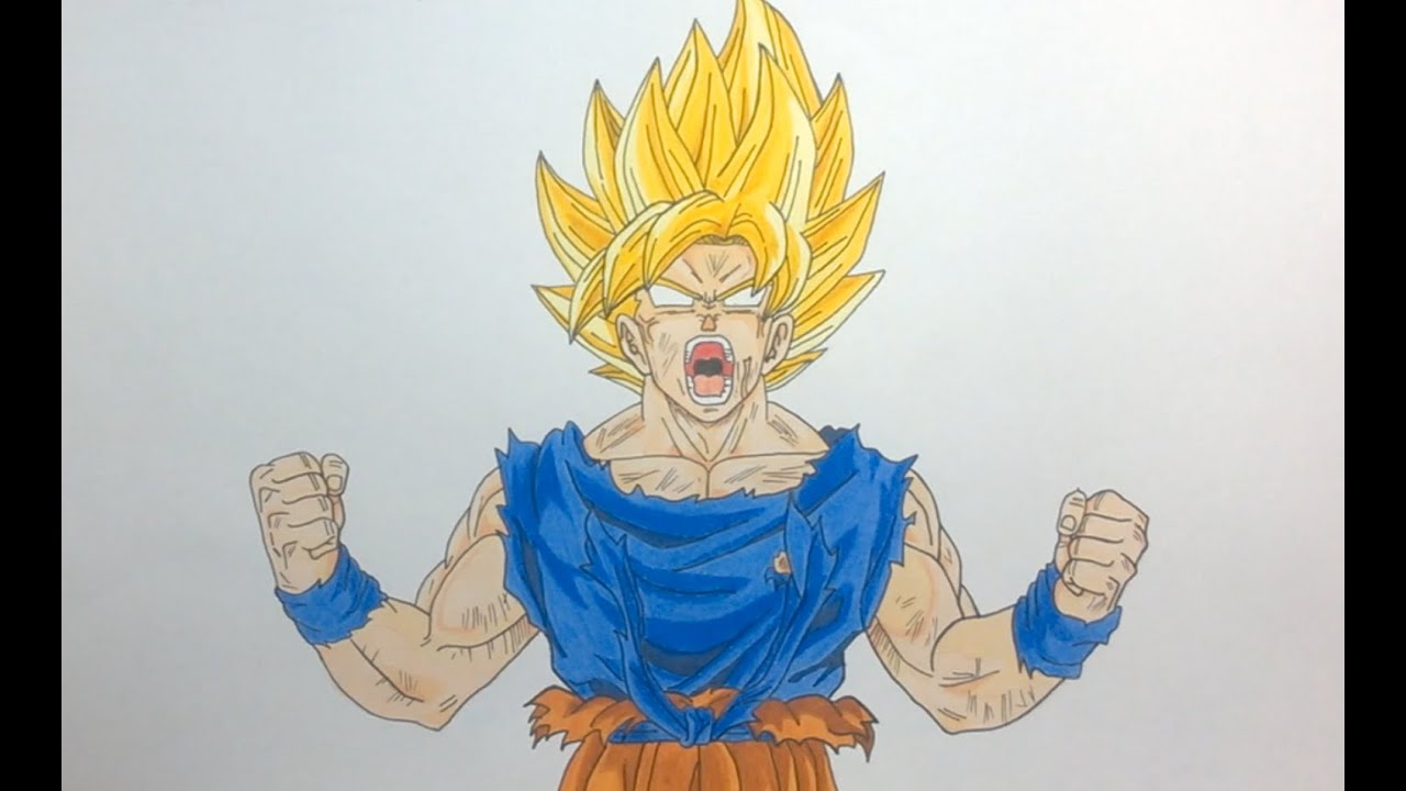 Drawing Goku Super Saiyan Ssj Dragon Ball Z Frieza Saga