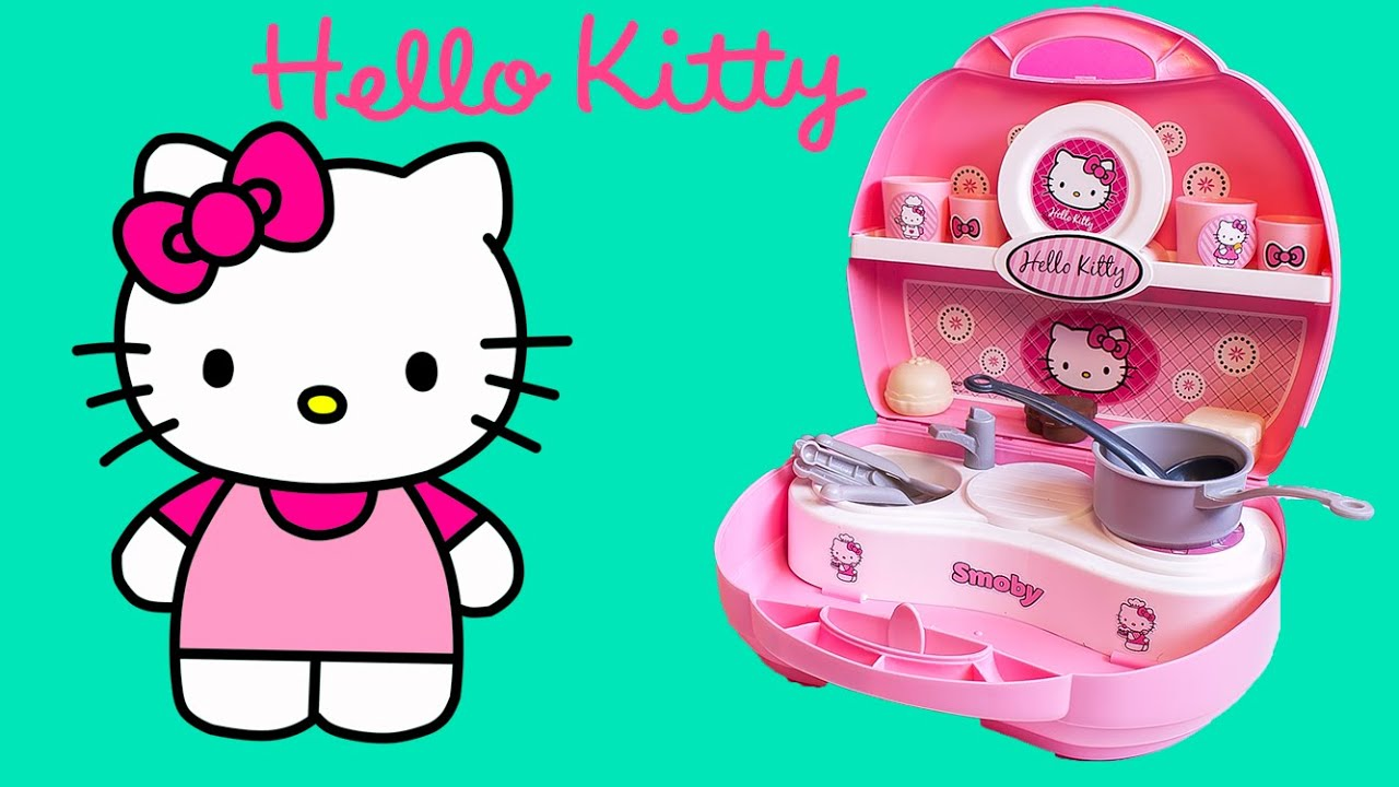 play doh hello kitty mini kitchen playset mini cocina juguetes