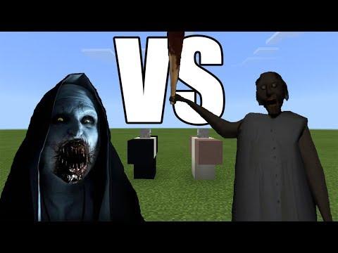 The Nun vs Granny | Minecraft PE thumbnail