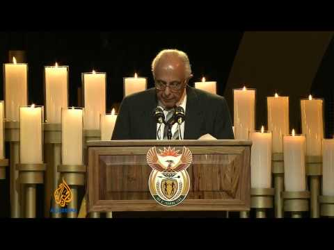 Mandela's fellow inmate gives emotional speech
