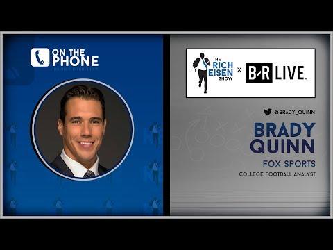 FOX Sports' Brady Quinn Talks Alabama-Clemson, USC, Notre Dame & More W/Rich Eisen   Full Interview