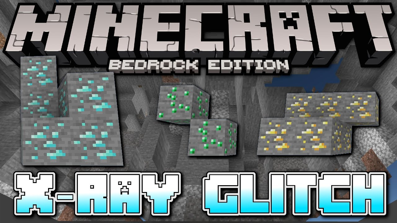 Minecraft Bedrock - X-RAY GLITCH ☠️ NO BOAT ☠️ Easy Tutorial - PS12 , MCPE ,  Xbox , Windows & Switch