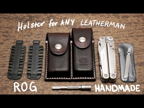Leatherman leather sheath for Surge Wave Charge multitools Black or Brown pouch