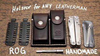 Any Leatherman or Multitool Custom Leather Holster / Sheath | Handmade (Surge, Charge, Wave, Rebar)