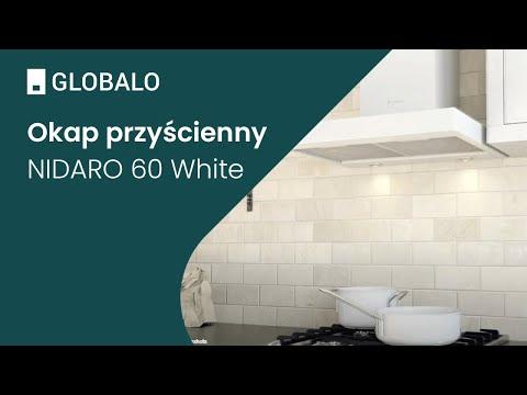 Okap przyścienny GLOBALO NIDARO 60.3 White | Ciche i wydajne okapy GLOBALO