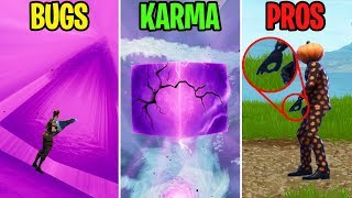 Cracked Cube Permet aux gens GET INSIDE CUBE! BUGS vs KARMA vs PROS - Moments drôles Fortnite